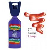 3D контур акриловый металлик ACRILEX 35мл 12312.0517 оранжевый