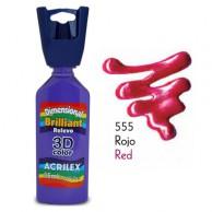 3D контур акриловый металлик ACRILEX 35мл 12312.0555 красный