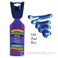 3D контур акриловый металлик ACRILEX 35мл 12312.0559 голубой