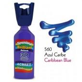 3D контур акриловый металлик ACRILEX 35мл 12312.0560 карибский голубой
