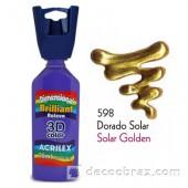 3D контур акриловый металлик ACRILEX 35мл 12312.0598 солнечное золото