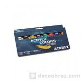 Краски акриловые в наборе ACRILEX 20 мл. 13108.0000 8 цветов