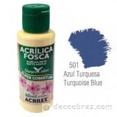 Краска акриловая матовая ACRILEX 60мл 3560.0501 зелено-синий
