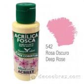 Краска акриловая матовая ACRILEX 60мл 3560.0542 темно-розовый