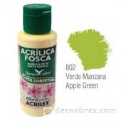 Краска акриловая матовая ACRILEX 60мл 3560.0802 зеленое яблоко