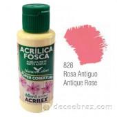 Краска акриловая матовая ACRILEX 60мл 3560.0828 античная роза