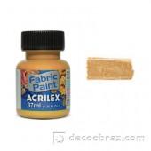 Краска для ткани акрил металлик ACRILEX 37мл 04340.0532 золотой