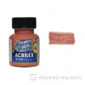 Краска для ткани акрил металлик ACRILEX 37мл 04340.0534 медный