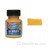Краска для ткани акрил металлик ACRILEX 37мл 04340.0553 желтый