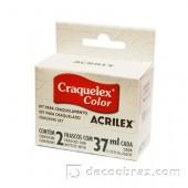 Лак-кракле двухкомпонентный ACRILEX 37мл. 17602.0806