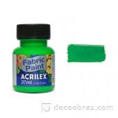 Краска для ткани акриловая флуорисцентная ACRILEX 37мл 04040.0101 неоновый зеленый