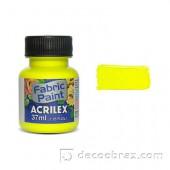 Краска для ткани акриловая флуорисцентная ACRILEX 37мл 04040.0102 неоновый лимонный