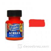 Краска для ткани акриловая флуорисцентная ACRILEX 37мл 04040.0103 неоновый красный