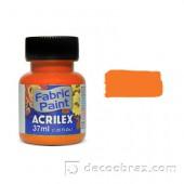 Краска для ткани акриловая флуорисцентная ACRILEX 37мл 04040.0108 неоновое золото