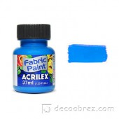Краска для ткани акриловая флуорисцентная ACRILEX 37мл 04040.0109 неоновый синий