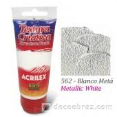 Паста структурная на акриловой основе ACRILEX 60мл 19610.0562 белый металлик плотный
