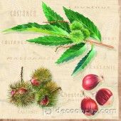 """Салфетка для декупажа цветная """"Зеленые листья"""" M74021"""