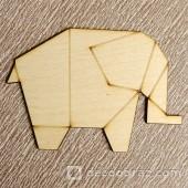 Слон оригами 1-37.4.10 см