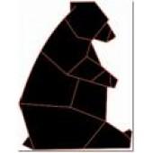 Медведь оригами 1-29.4.10 см
