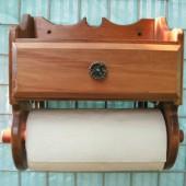 Держатель для бумажных полотенец с полочкой 4-008.1