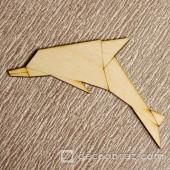 Дельфин оригами 2-5.4.10 см