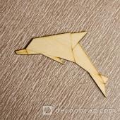 Дельфин оригами 2-5.4.5 см