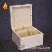 Коробочка с крышкой и отсеками 4-001.1