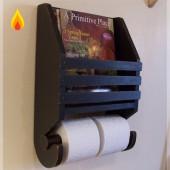 """Держатель для туалетной бумаги с полочкой для журналов """"СИМПОЗИУМ"""" 12-002.1"""