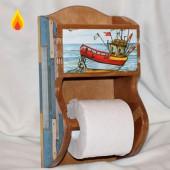 Держатель для туалетной бумаги с полочкой 12-003.1