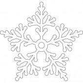 Снежинка 9-36.4.10 см