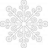 Снежинка 9-44.4.10 см