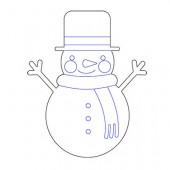 Снеговик 9-50.4.10 см