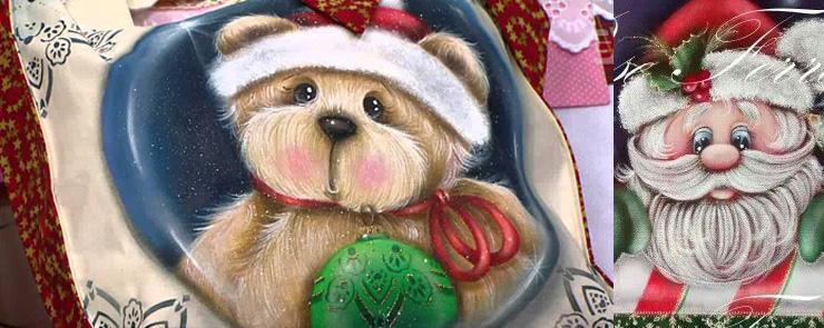 Видео мк новогодних мотивов для росписи по ткани